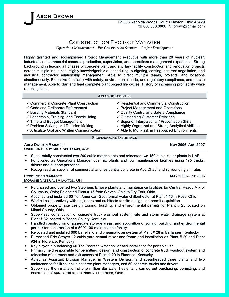 Nice Simple Construction Superintendent Resume Example To Get Applied Check More At Http Snefci Org Simp Project Manager Resume Manager Resume Resume Skills