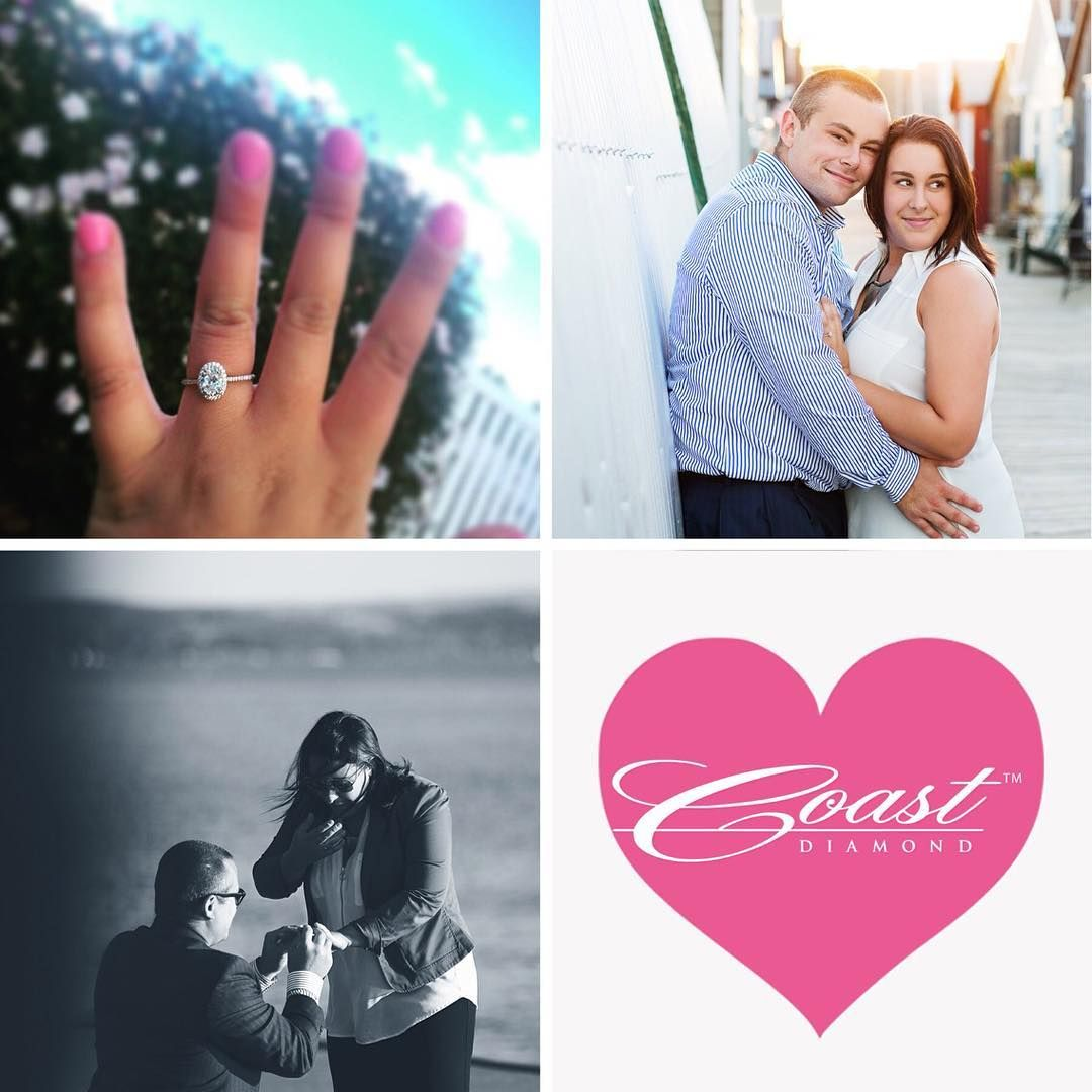 We LOVE an engagement story with multiple surprises! Coast couple, Samantha and David got #engaged with an #ovalshaped diamond #halo engagement ring by #CoastDiamond. After #shesaidyes to David's romantic proposal at Canandaigua Lake, he surprised his #fiance with a surprise dinner reservation where he invited 30 of their closest friends and family members to celebrate their upcoming nuptials! #coastdiamond #showyourcoast #inlove #happilyengaged #thursdaytreat