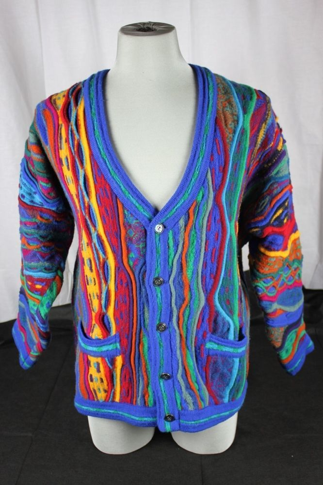 COOGI Australia Mens Cardigan Pure Wool XL Extra Large Sweater ...