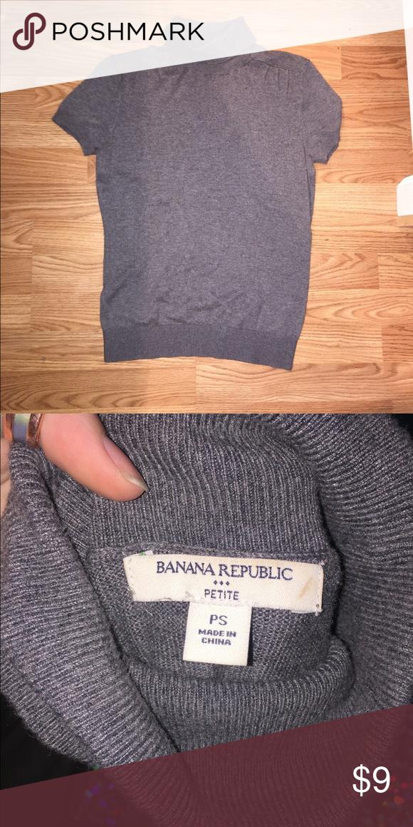 Banana Republic Ribbed Mock Neck Sweater Tee Banana Republic