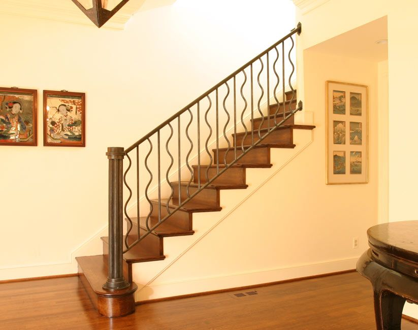 Railings For Stairs Interior | Blacksmith : Custom Designed Stair Railing :  Hand Forged Steel