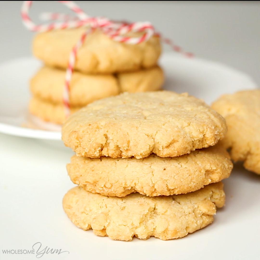 Gluten-Free Shortbread Cookies Recipe - 4 Ingredients (Low Carb, Sugar-Free)