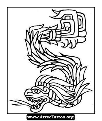 Nice And Simple Quetzalcoatl Tattoo Should Be Great With Some