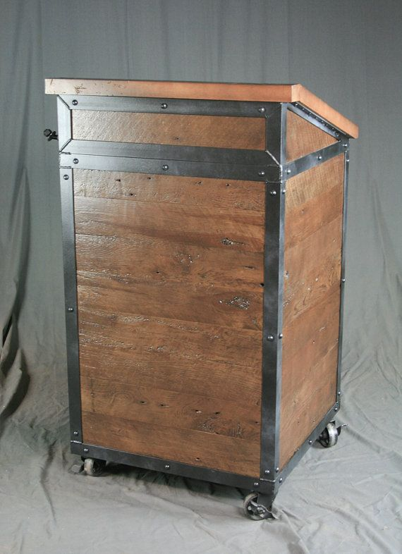 Industrial host stand lectern restaurant hotel by