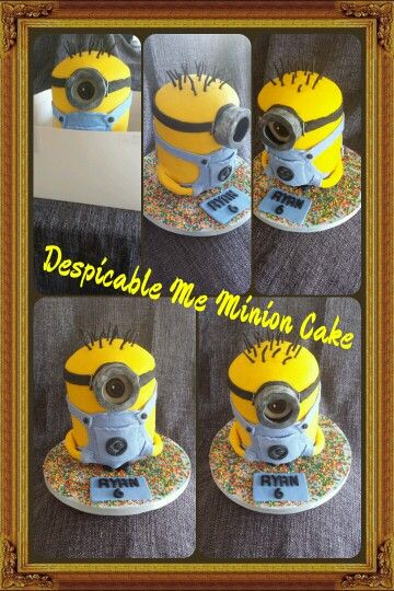 Despicable Me Minion Cake. Www.sallysbakery.co.uk