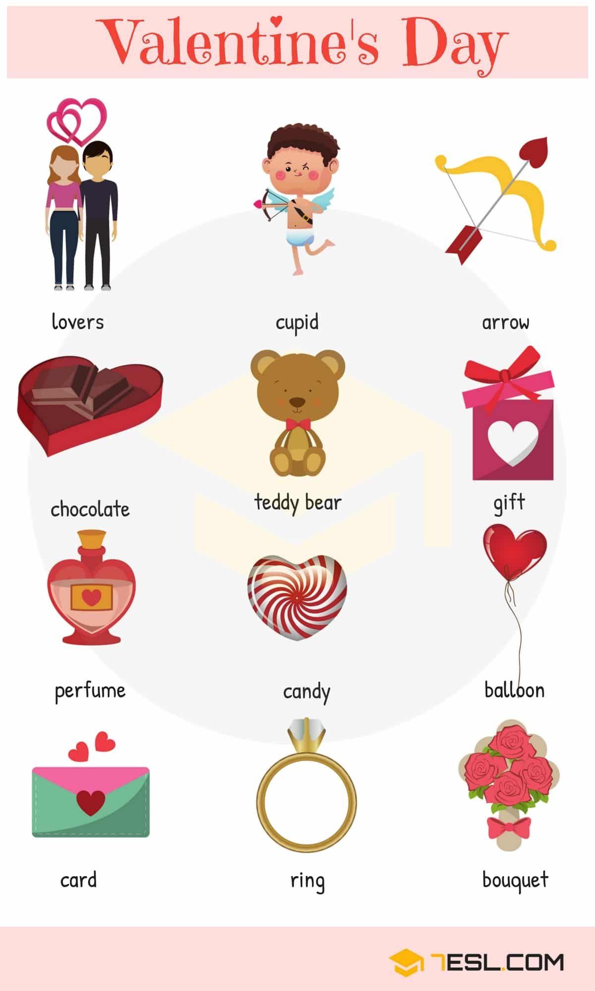 Valentine Words Useful Valentine's Day Vocabulary Words