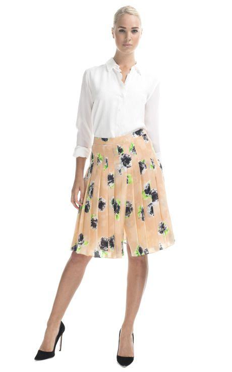 Shop Moschino Cheap & Chic Roses Printed Skirt at Moda Operandi