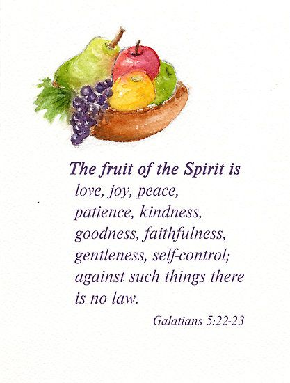 Fruit to the spirit