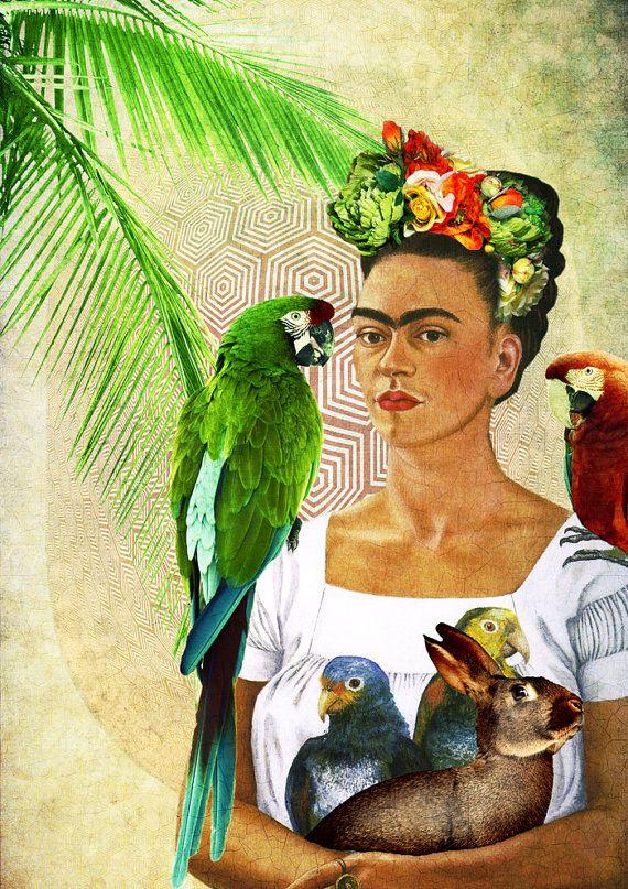 Frida Kahlo Art Wall Art Prints Boho Art Decor Vintage Decor Art Prints Boho Frida Kahlo Art Poster Wall Art