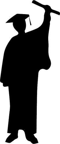 Graduate | Graduation silhouette, Silhouette, Graduation ...