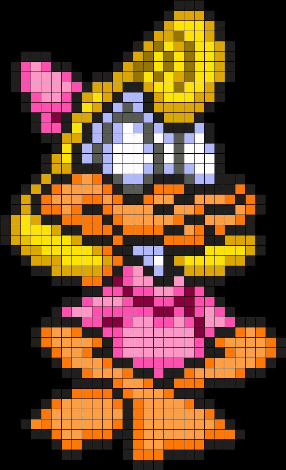 Shirley the Loon - Tiny Toon Adventures Perler Bead Pattern