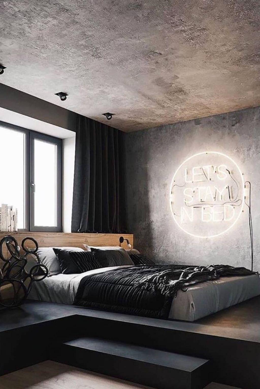 20+ Modern Style For Industrial Bedroom Design Ideas - LOVAHOMY