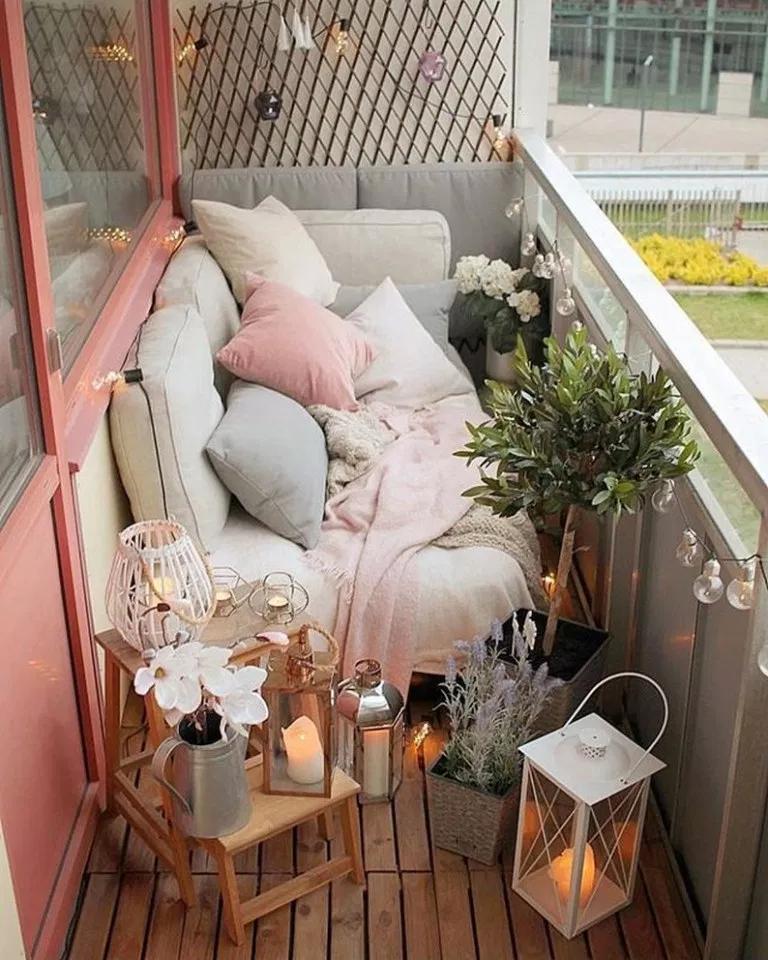 64 small apartment balcony decorating ideas