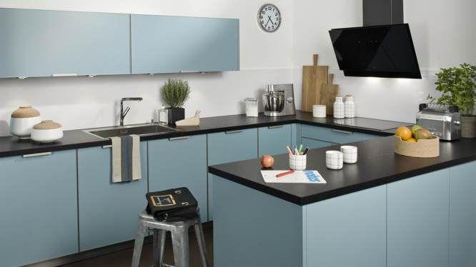 cuisine couleur pastel bleu clair ou