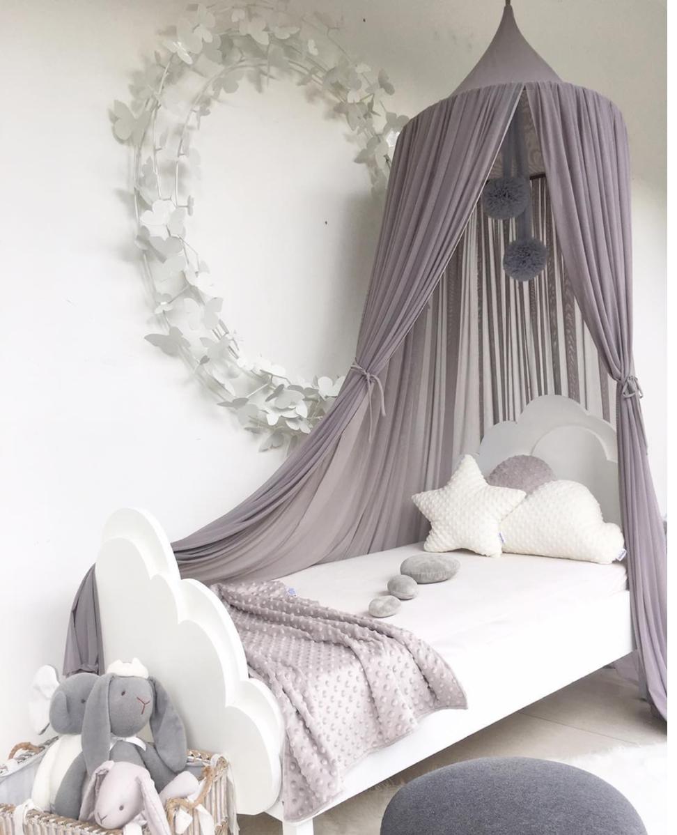 Room Smoke Grey Sheer Canopy Beautiful