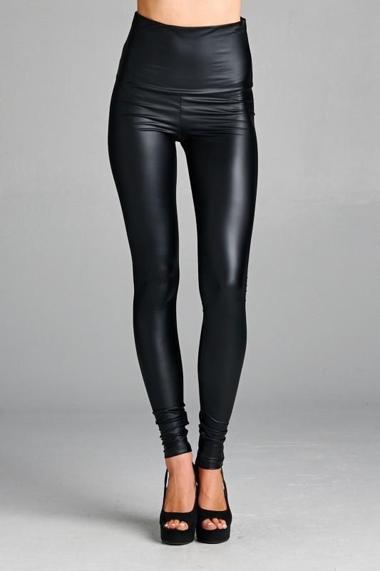 83fcdcc33c645 Must Have pleather leggings!!!! These can be worn high waisted or folded  over. These are medium weight, semi-matte, and non sheer. They stretch well!
