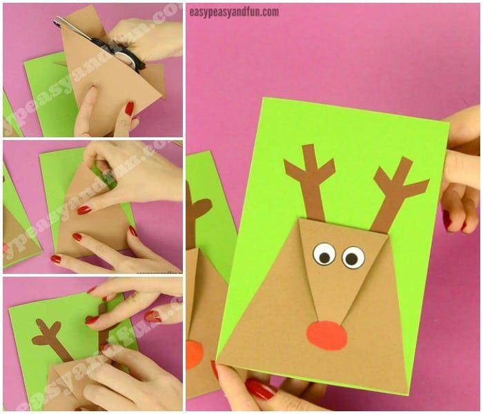 Reindeer Christmas Card - Easy Peasy and Fun #reindeerchristmas