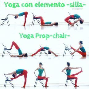 yoga asanas imageuniyogaprops on chair yoga pose guide