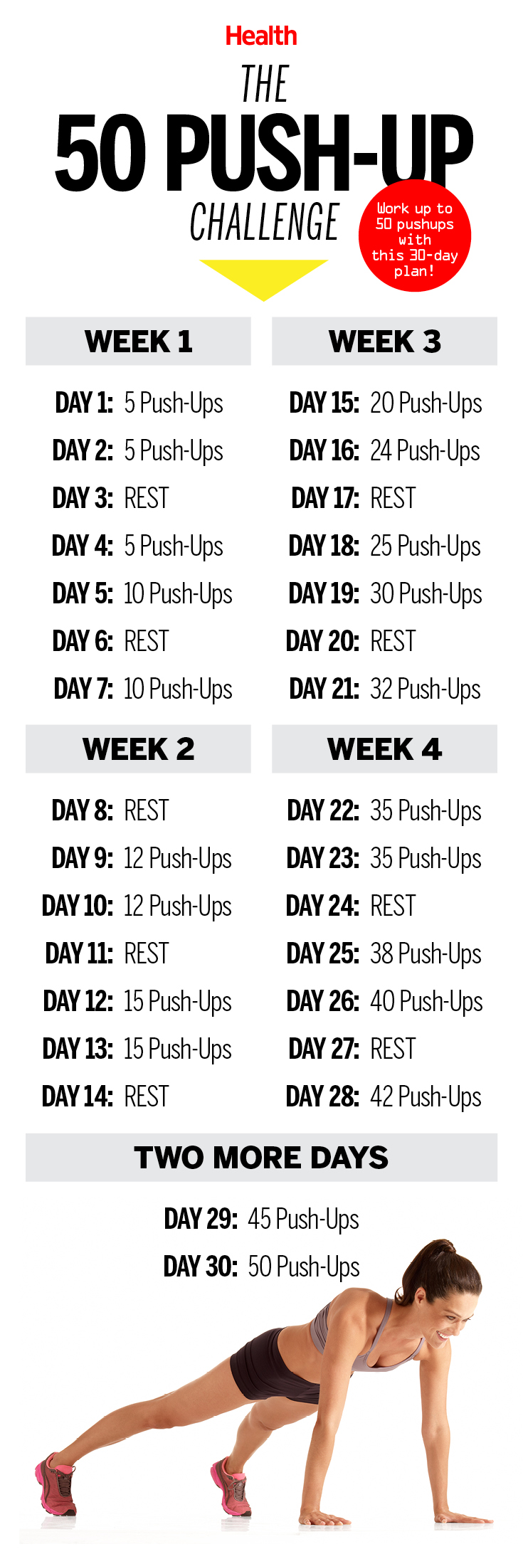 This 50 PushUp Challenge Will Transform Your Body in 30 Days  Health