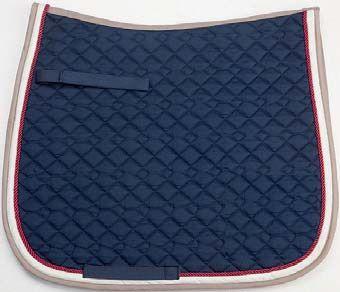 Navy/Red/Beige Saddle Pad