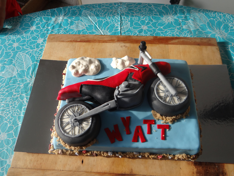 Dirt Bike Birthday Cake My Baking Creations Pinterest Dirt