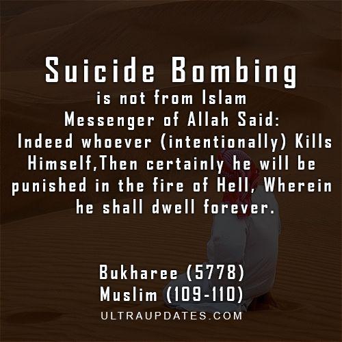 Inspirational Islamic Quotes Anti Suicide Bombing Quote Islam Beauteous Anti Suicide Quotes