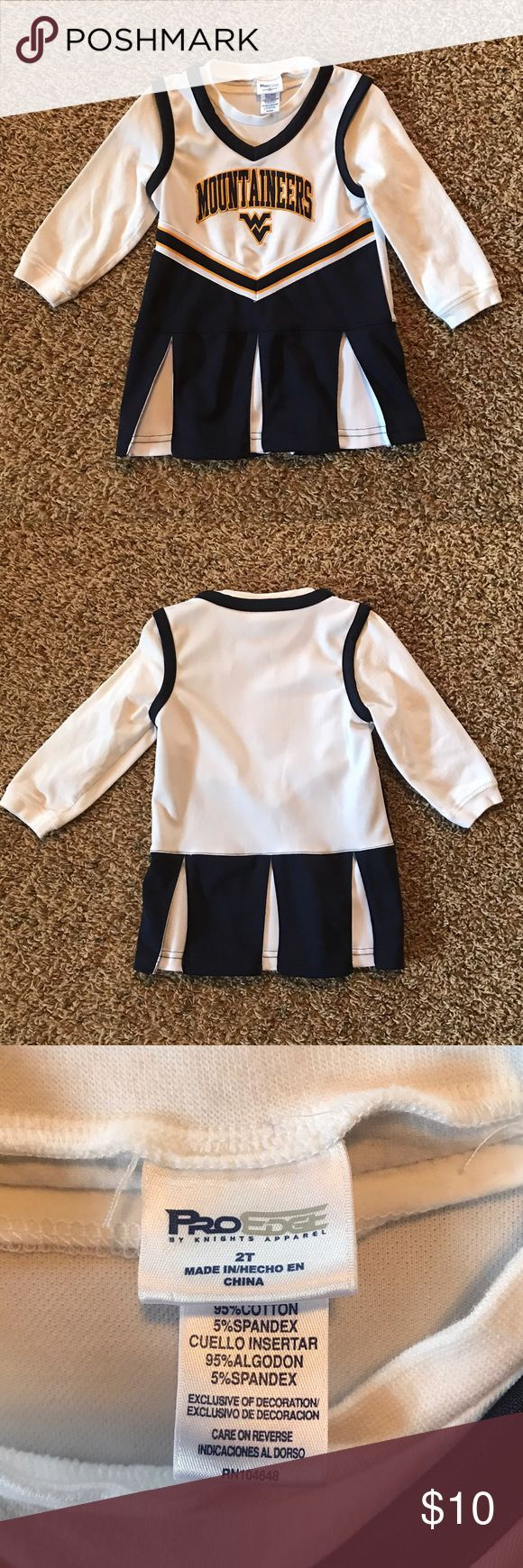WVU Mountaineers Cheerleader Uniform Dress 2T Sehr guter Zustand. Baumwolle / Polye ..., #Bau... #wvumountaineers