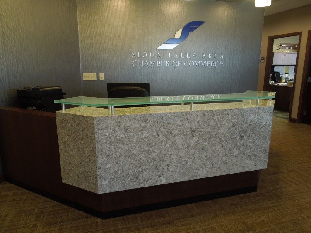 Custom Design Cabinetry Gives New Look To Sioux Falls Chamber Creative Surfaces Blog Cambria Quartz Countertops Quartz Countertops Cabinetry