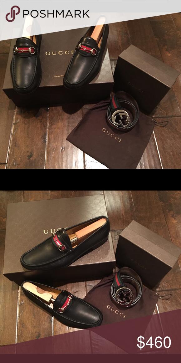 1933ad61bd8 10.5 Gucci Horsebit Loafer w  38in Gucci Belt Gucci Shoes   Belt Combo Gucci  Shoes Loafers   Slip-Ons