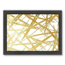 Stokes by Khristian Howell Framed Graphic Art in Gold