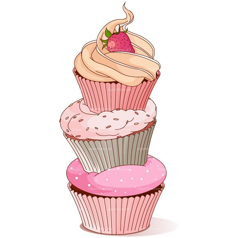CLIPART CUPCAKE TOWER Royalty Free Vector Design Cakepins