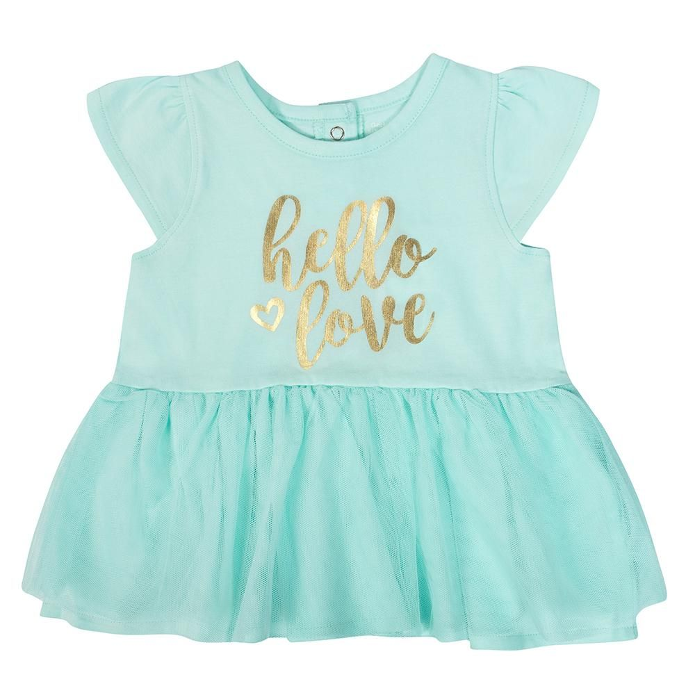 1cb1eb72e 1-Piece Baby Girls Hello Love Cap Sleeve Dress | Baby Clothes ...