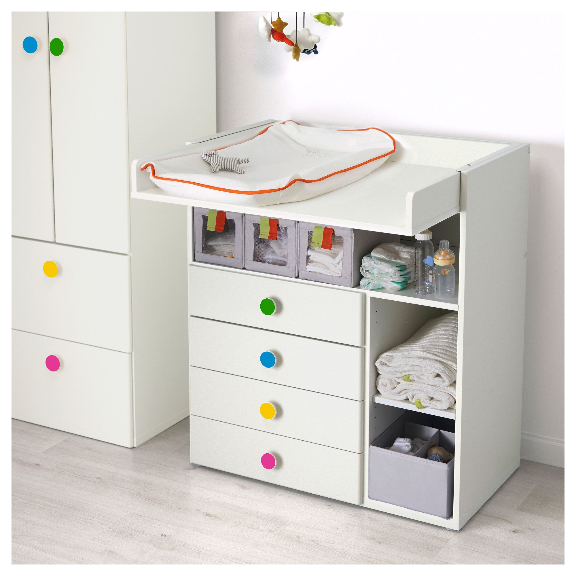 Muebles Cambiadores Para Bebes Ikea Stuva FÖlja Changing Table With 4 Drawers White