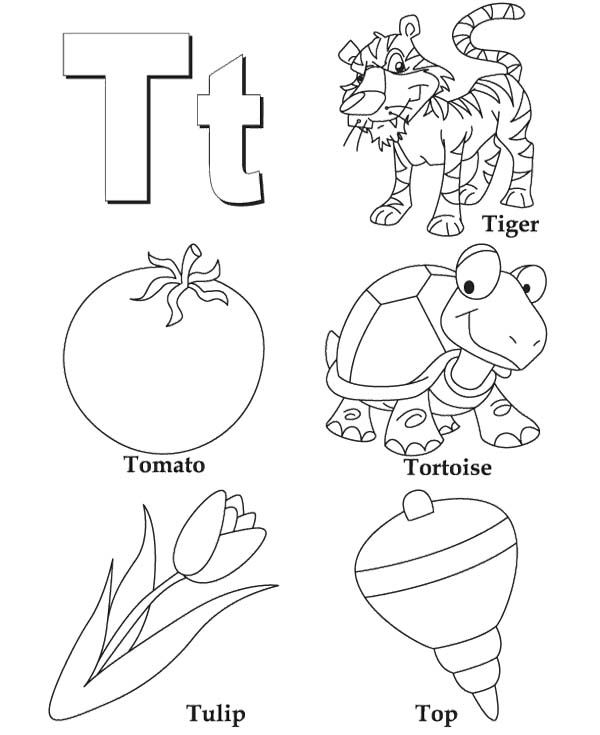 T For Coloring Activity | Kids Coloring Pages | Pinterest | Color ...