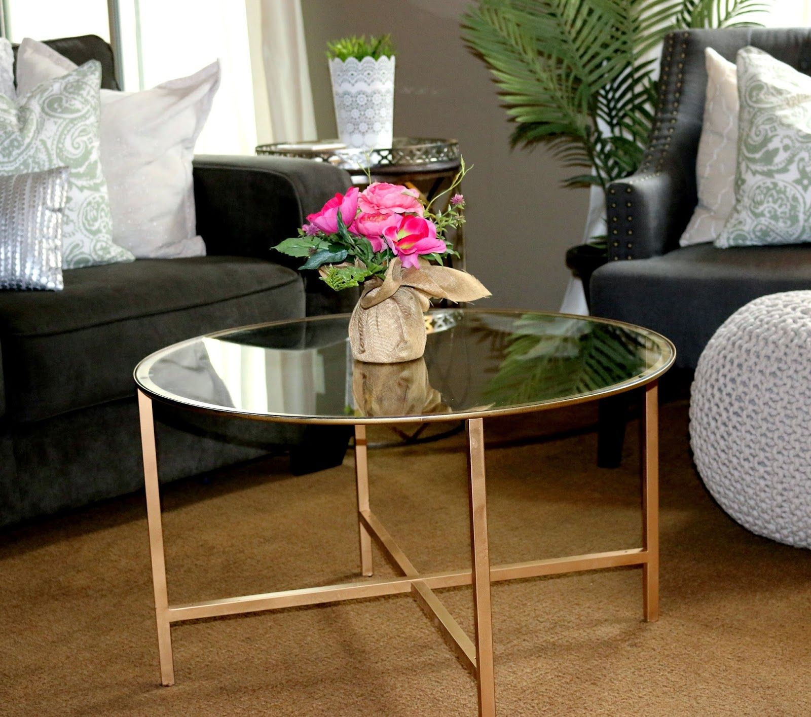 Living Room Table Ikea Vittsjö Coffee Table Blackbrown Glass  Coffee Rounding And .