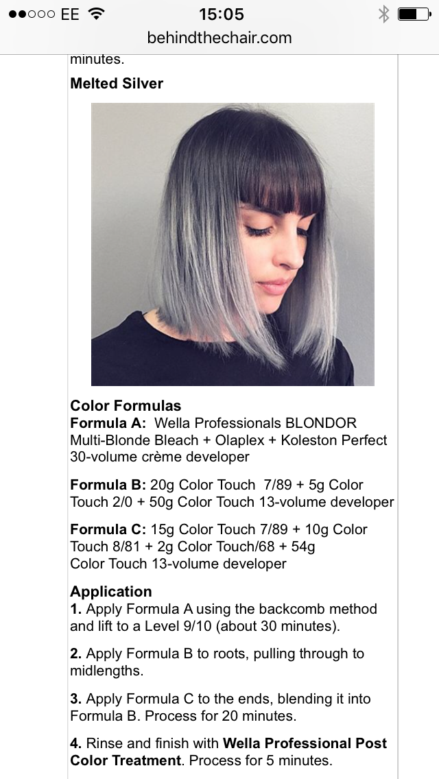 Haarfarbe grau mischen