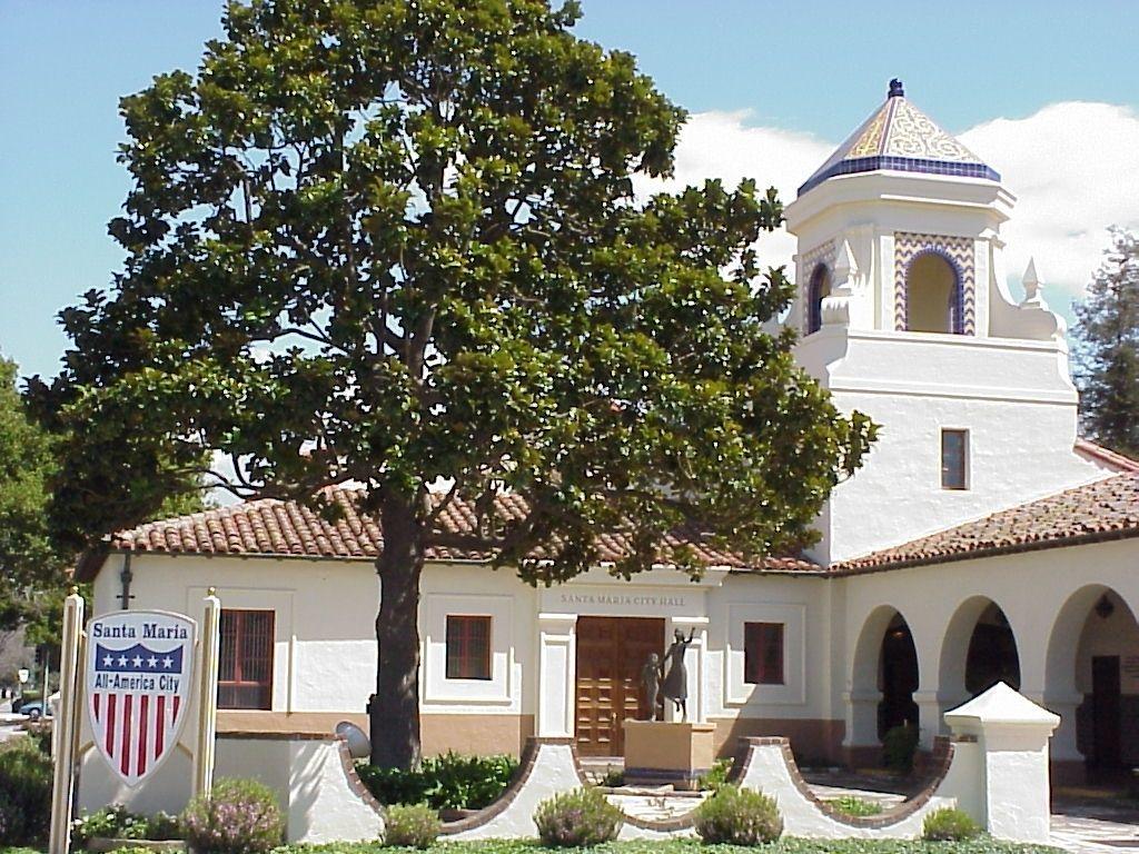 City Of Santa Maria City Hall Santa Maria Southern California Style California City
