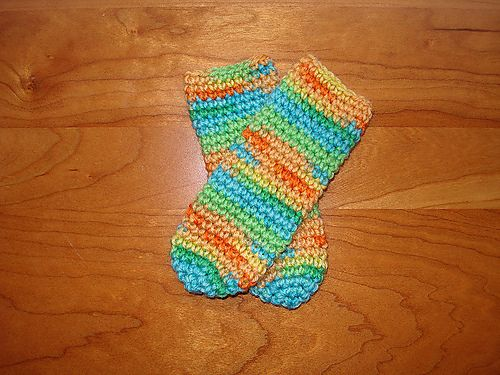 Ravelry Bevs Crocheted Baby Tube Socks Pattern By Beverly A