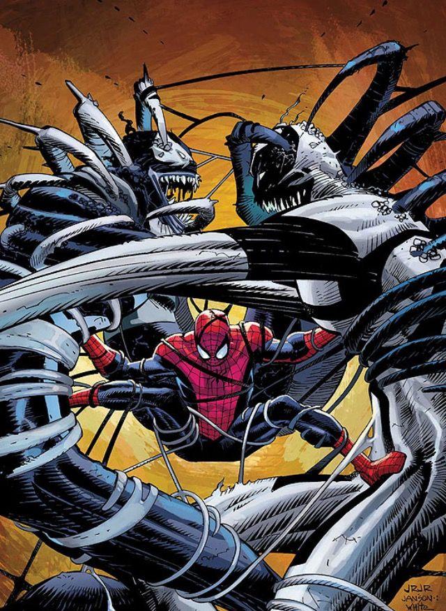 the amazing spider man venom vs anti venom by john romita jr