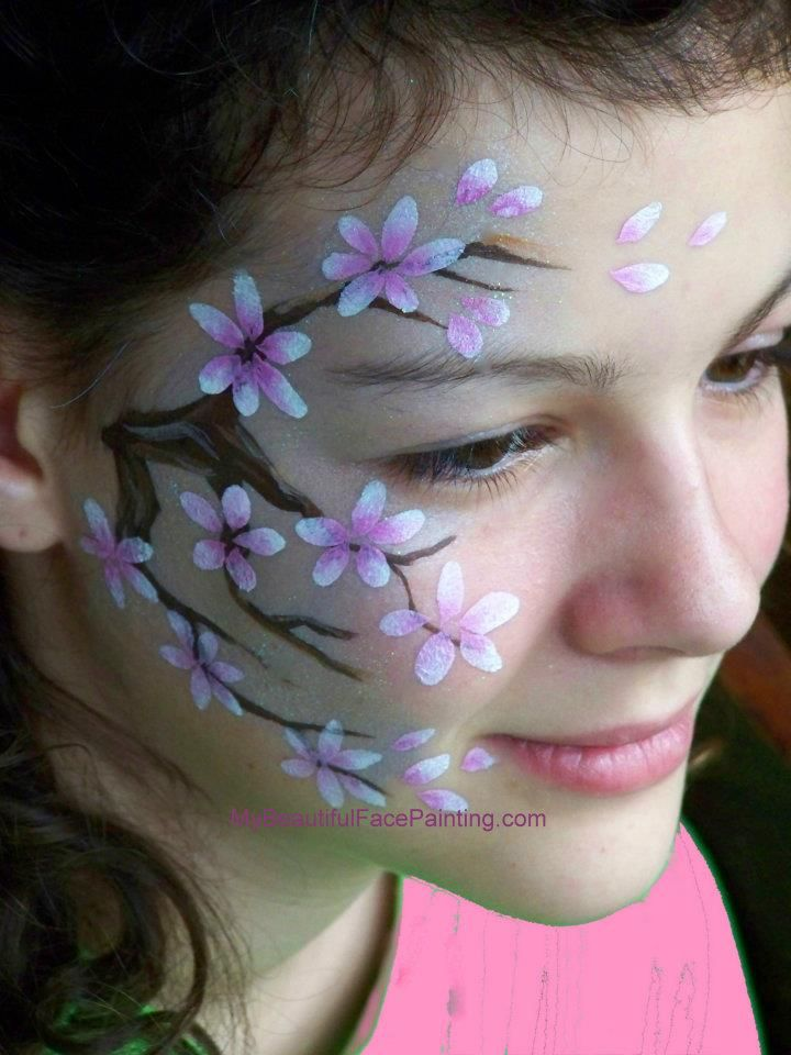 Cherry Blossoms Face Painting Flowers Face Painting Designs Face Painting