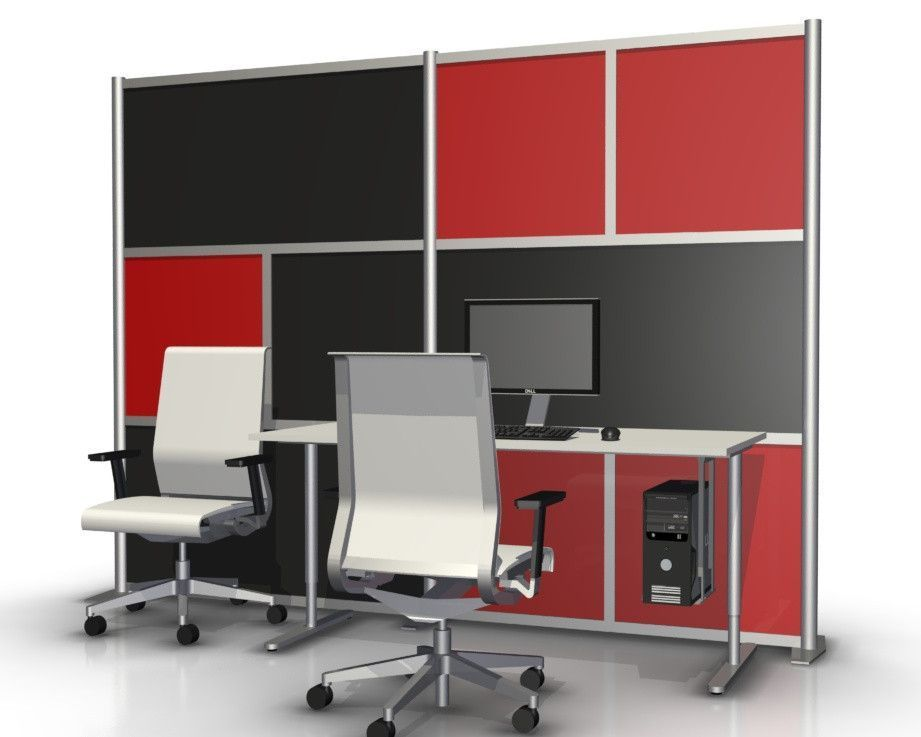 Room Dividers, Office Partitions Modern Office Divider Wall Room Divider  Model SW10075 5 Red