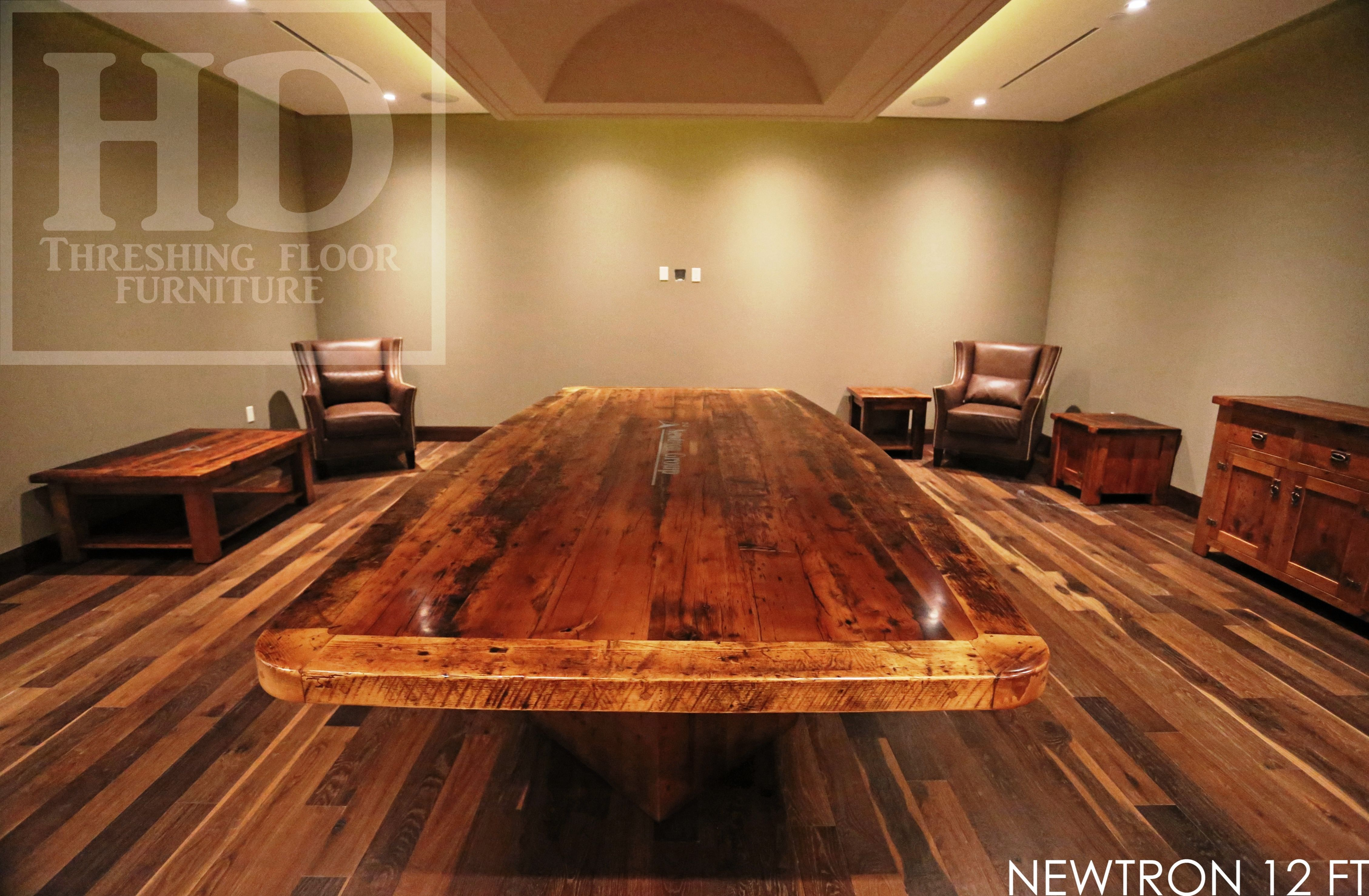 Details 12 Foot Boardroom Table Boat Shaped 72 Wide In Centre 60 Wide At Ends V Shape End Posts 3 Joi Boardroom Table Table Custom Reclaimed Wood