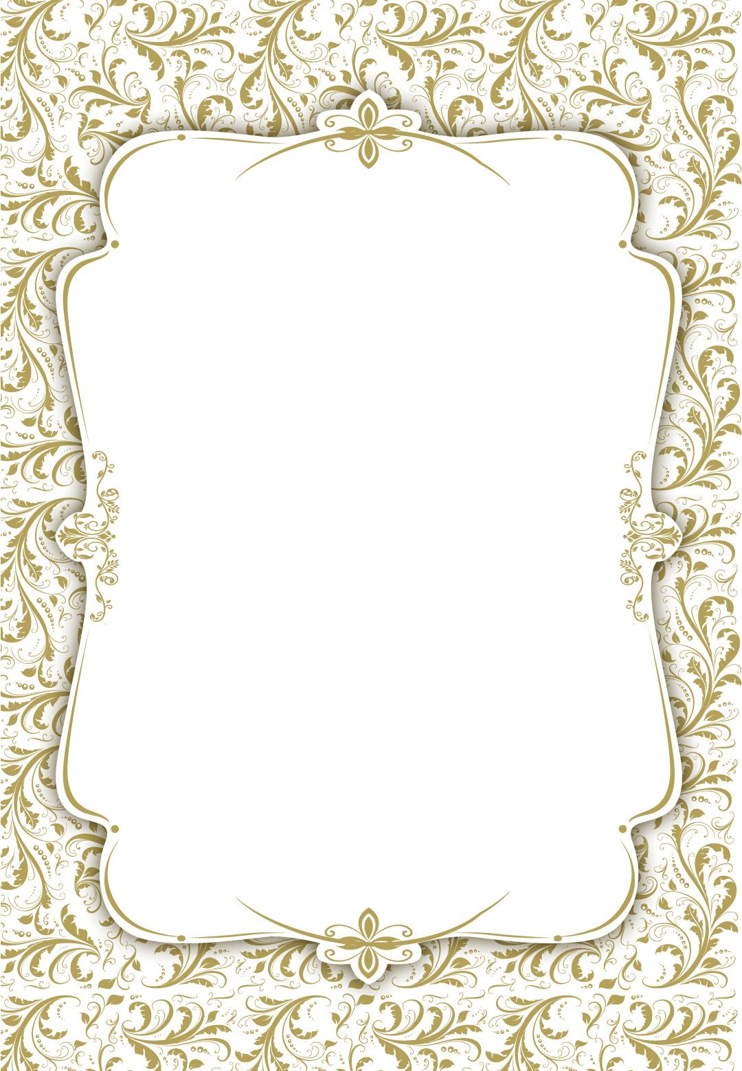 Blank Wedding Invitation Templates Clipart Images Gallery ...