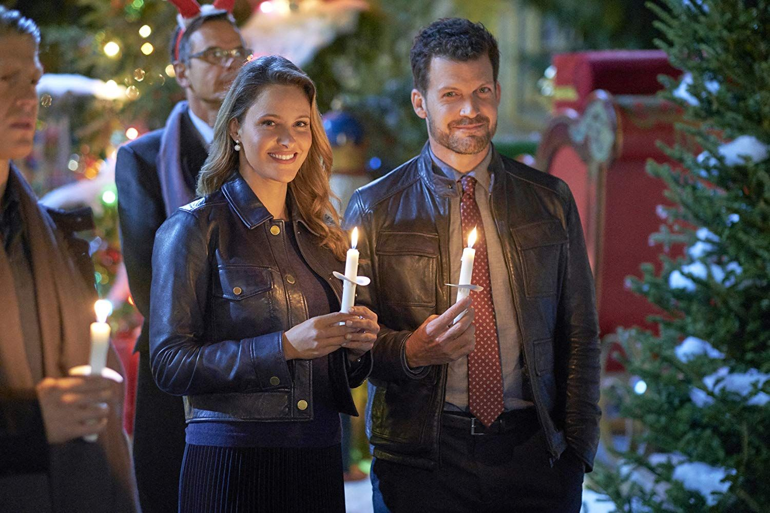 Jill Wagner and Robinson Peete in Christmas in Evergreen