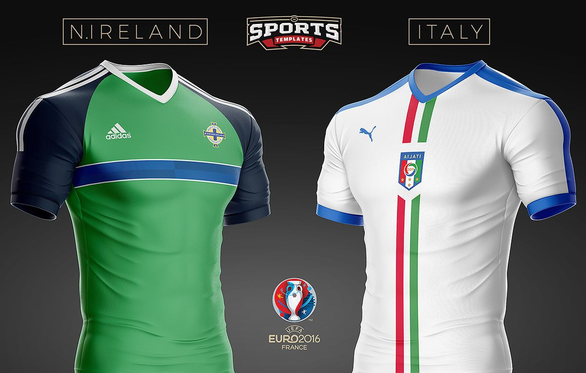 100% authentic cute cheap reasonable price Ireland VS italy Soccer kit PSD template | Soccer shirts ...