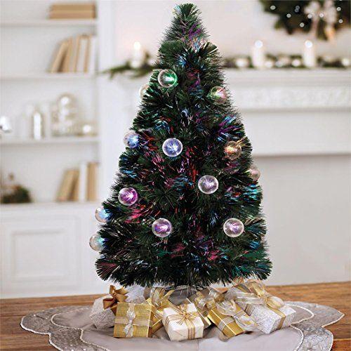 Brylanehome 3\u0027 Fiber Optic Tabletop Christmas Tree -   www