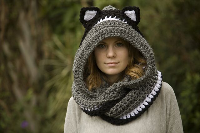 Hooded Scarf With Cat Ears Cat Scoodie Pattern By Melissa Grice