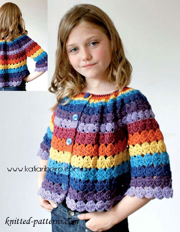 Katia Ribeiro Moda & Decoração Handmade: Blusa infantil em crochê com gráfico