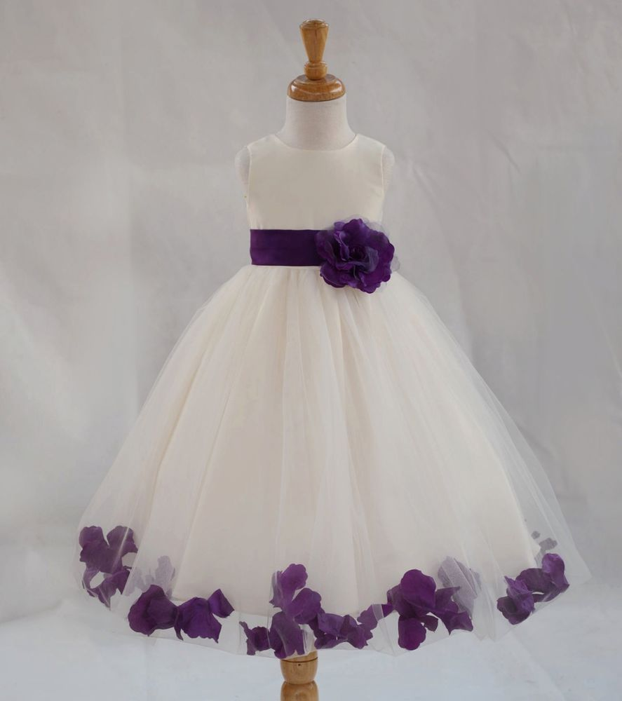 Details About Free Shipping Flower Girl Dress Pageant Birthday