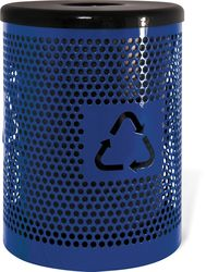 32 Gallon Ultra Site Metal Street Park Recycling Trash Can